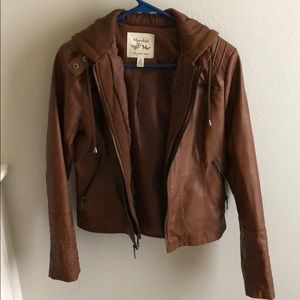 Women's light brown pleather jacket size small